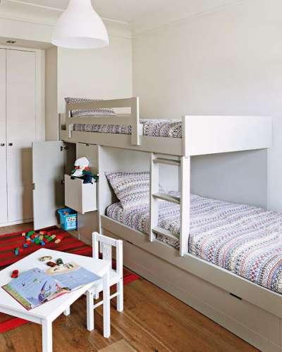 белый в интерьере детской комнаты для девочек