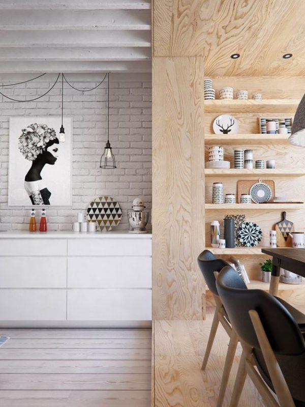 полы на кухне с порогом