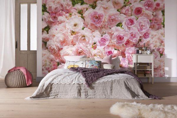 цветы розы на фотообоях для девочки подростка