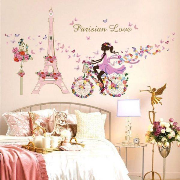 фотообои с мотивами Парижа для детской