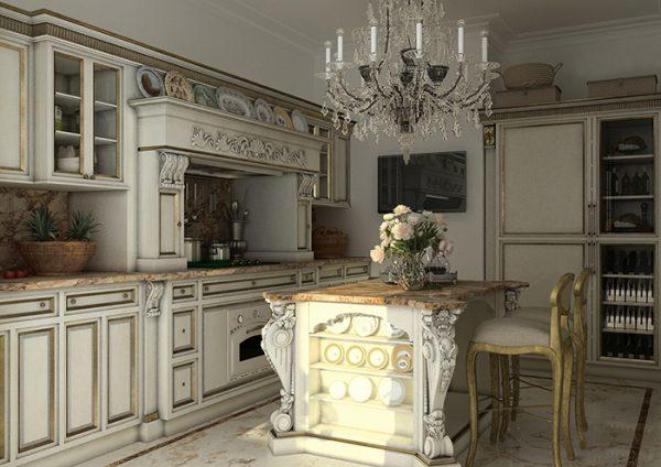 стиль барокко на современной кухне