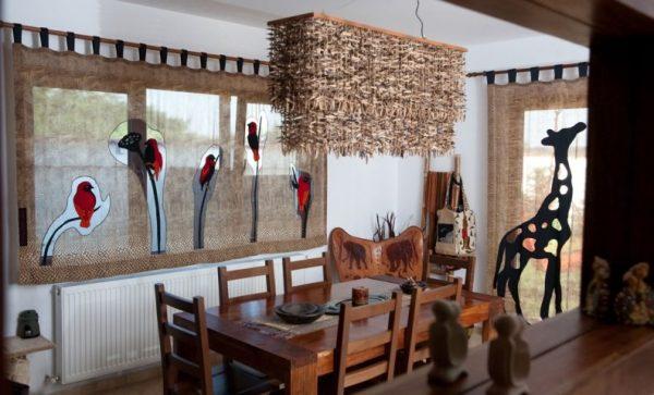 декор текстиля на кухне в африканском стиле