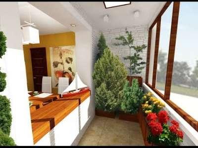 зимний сад на балконе возле кухни