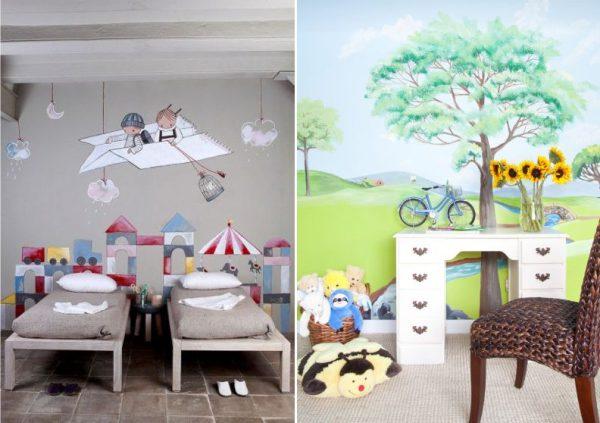 рисуем сами на стенах в детской