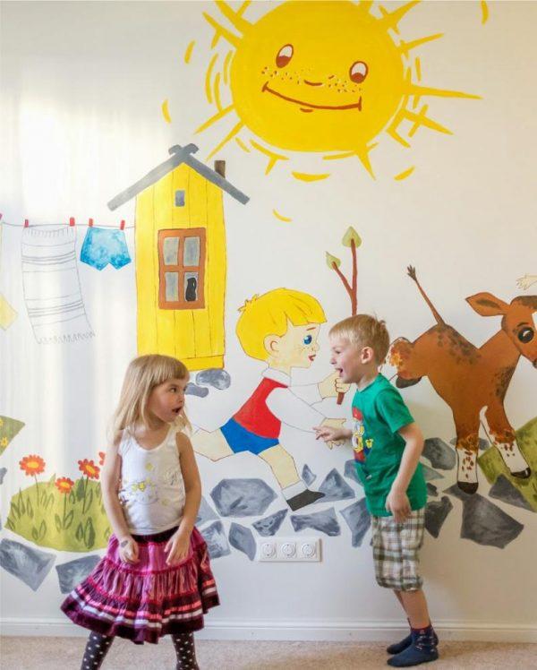 солнышко на стене детской