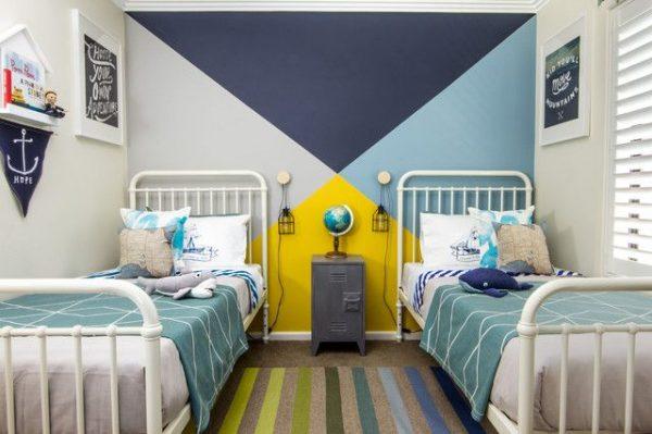 геометрический рисунок в детской комнате
