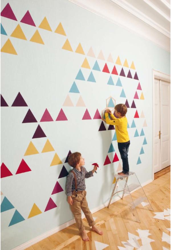 виниловые наклейки на стенах детской