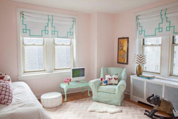 шторы для детской с геометрическим узором