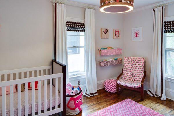 римские и прямые шторы для детской