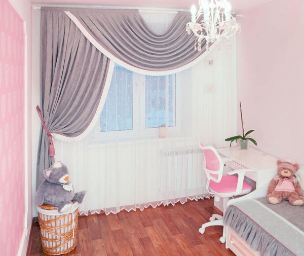 фигурные шторы для комнаты детей