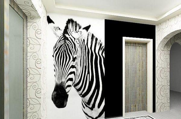 зебра на фотообоях