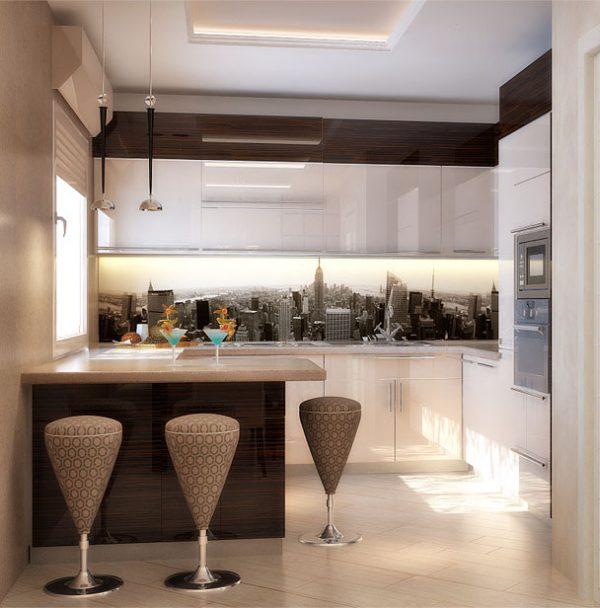 пластиковый прозрачный кухонный гарнитур