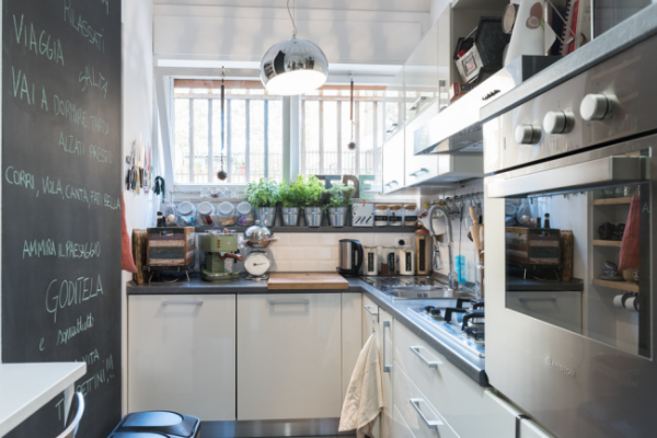 угловая кухня с духовкой