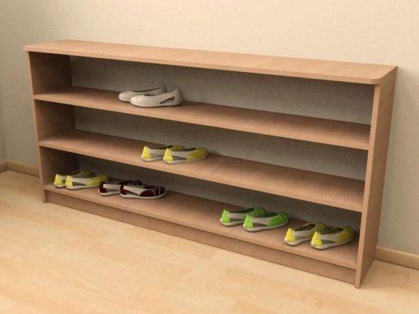 полка для обуви из фанеры