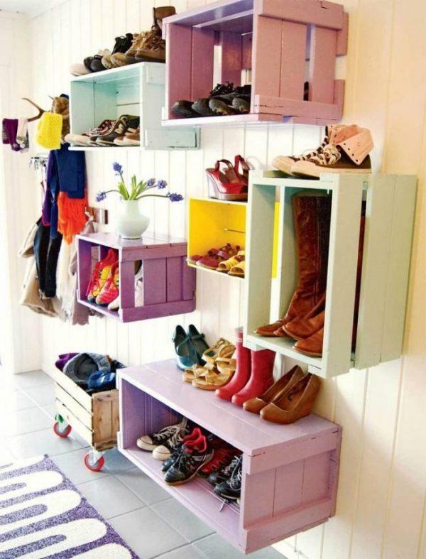 яркие ящики для обуви