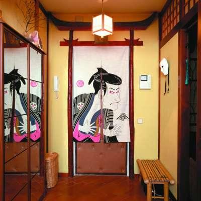 шкаф купе в прихожей в японском стиле
