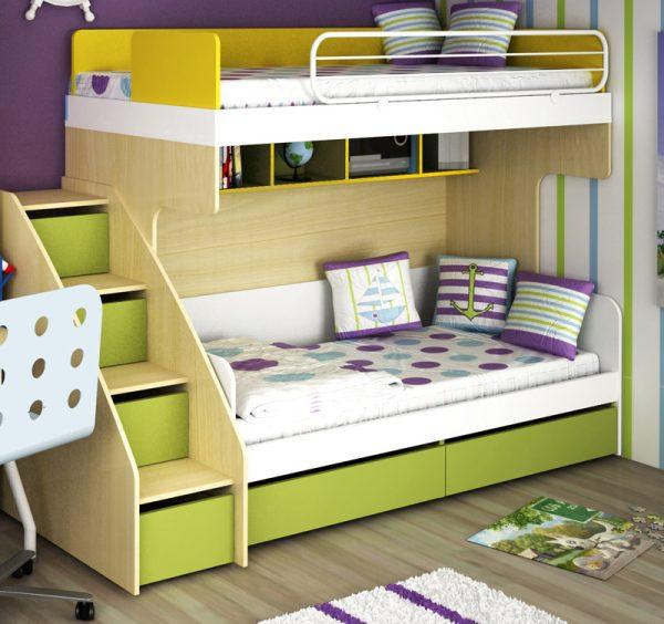 кровать в детской двух мальчиков