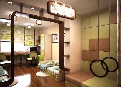 детская для двух мальчиков зонирование выбор мебели дизайн в