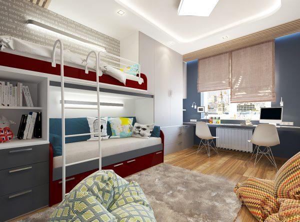 двухярусная конструкция кровать