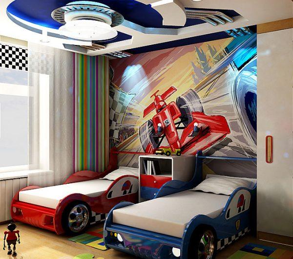 потолок в детской для двух мальчиков
