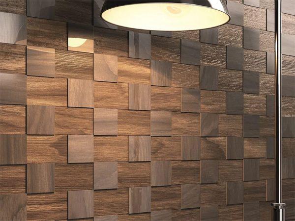стильное оформление стены ламинатом