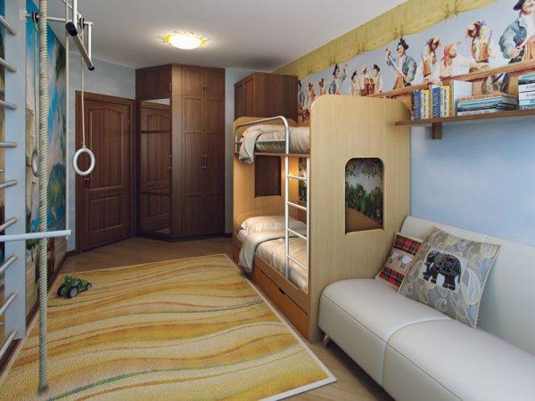 -комната-для-двоих-детей