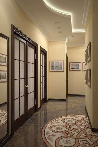 Навесные потолки в коридоре фото