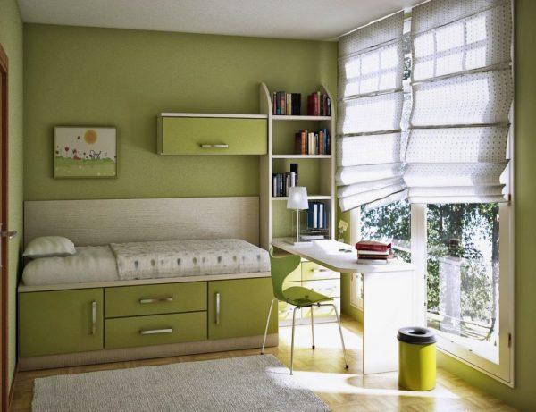 Kamar-Tidur-Kecil-dengan-warna-hijau-1041x800