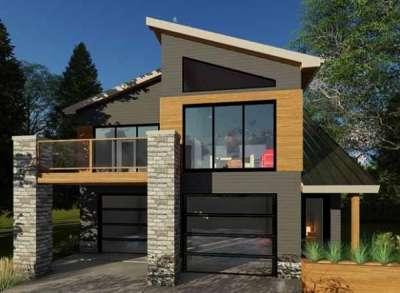 Проекты гаража с мансардой — используем пространство над гаражом
