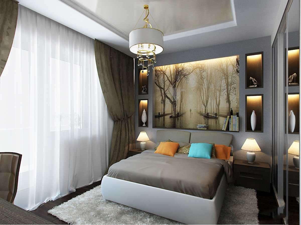 Дизайн спальни 16 кв м в современном стиле — фото интерьеров Дизайн Кухни 3 кв Метров