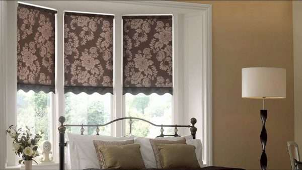 Дизайн римской шторы для спальни