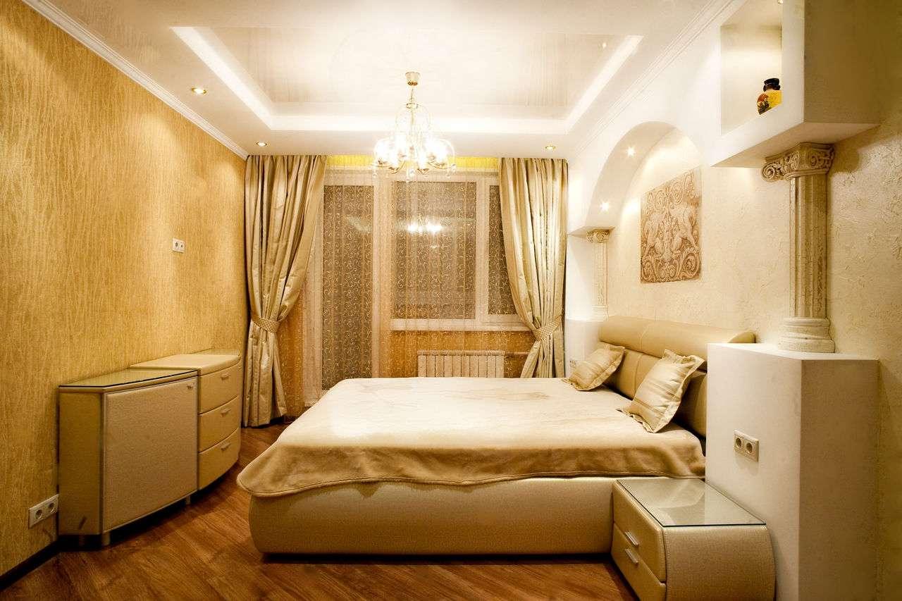 Дизайн спальни в «хрущевке» (94 фото реальные идеи ремонта) 15