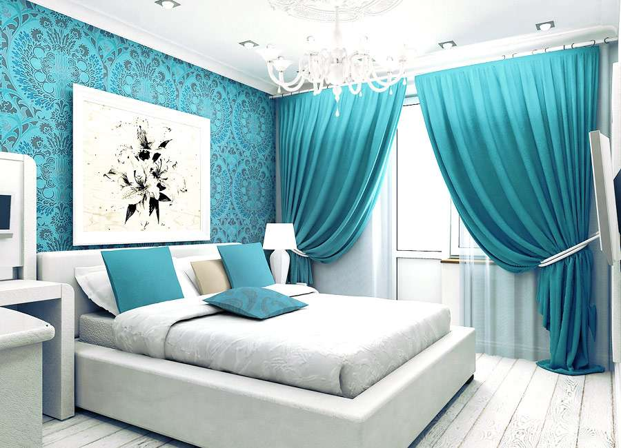 Дизайн яркой спальни фото