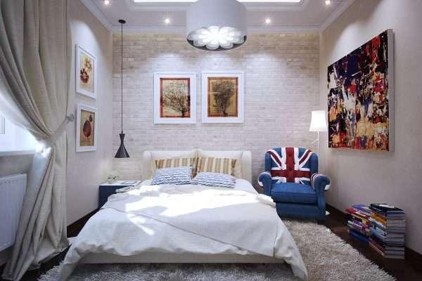 Стиль фьюжн в интерьере спальни