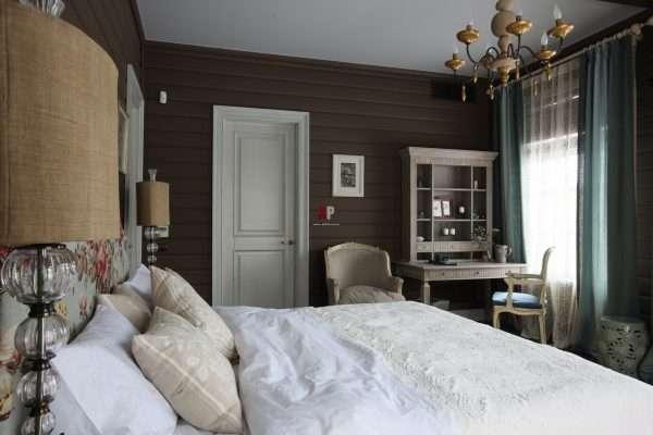 Деревенский стиль в оформлении спальни