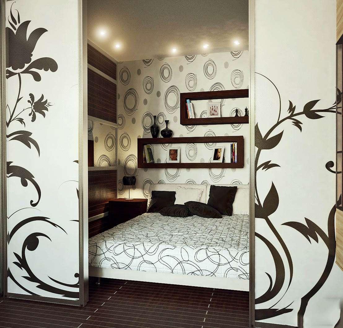 Маленькая спальня дизайн без окна