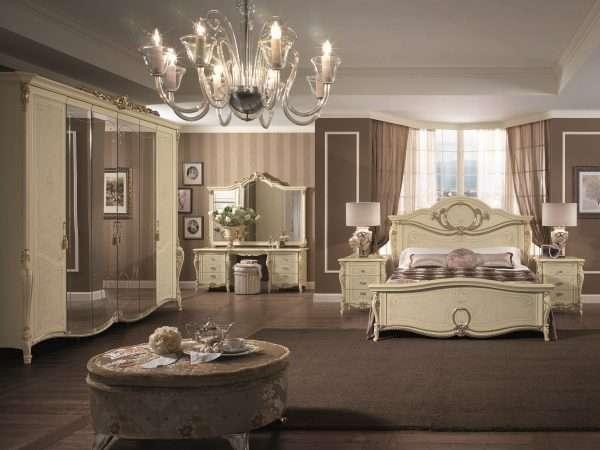 Дополнительные элементы декора в спальне в классическом стиле