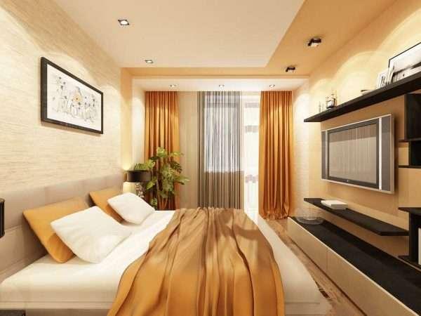 Спальня комната 3 на 3