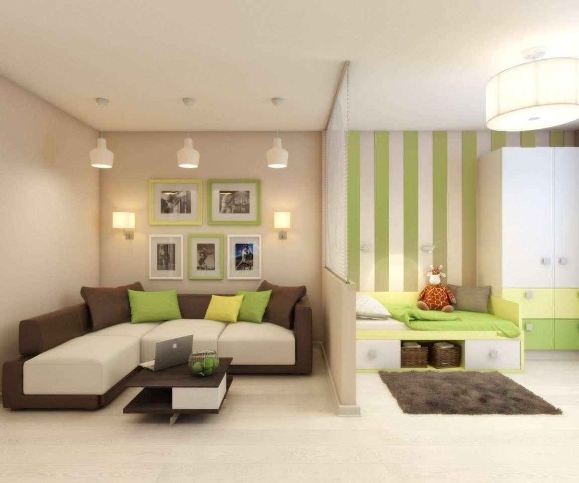 Дизайн интерьера совмещенная гостиная и спальня
