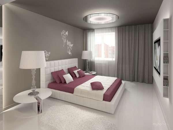 Диванные подушки в интерьере спальни