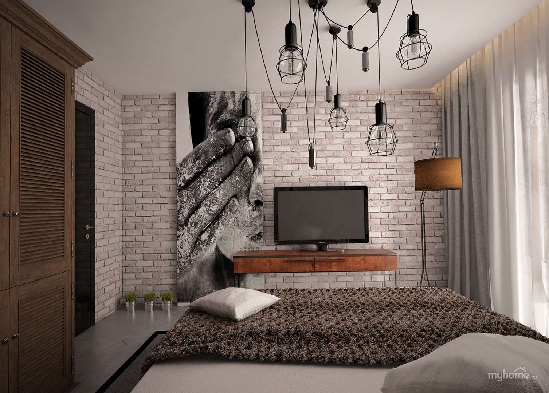 Дизайн комнаты фото в стиле лофт