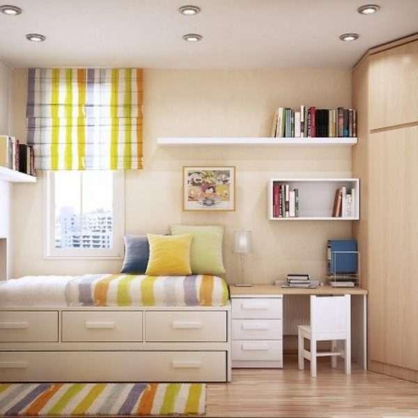 Дизайн детской комнаты в персиковых тонах