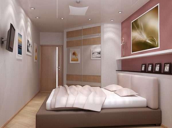 Дизайн спальни в персиковых тонах