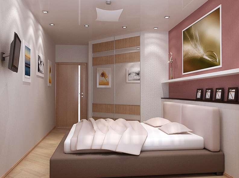 Спальня 13 кв м дизайн с угловым шкафом