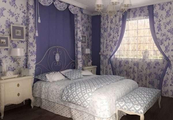 Стль прованс в оформлении спальни