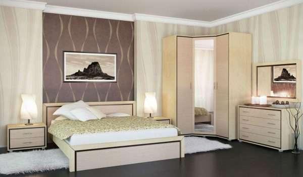 Комплект мебели для спальни в едином стиле