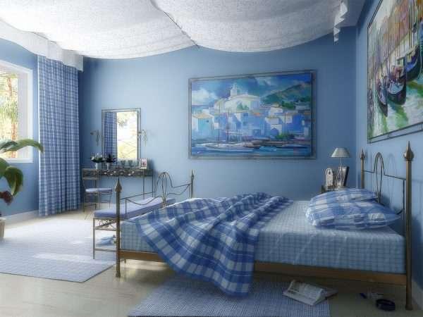 Морской стиль в дизайне спальни