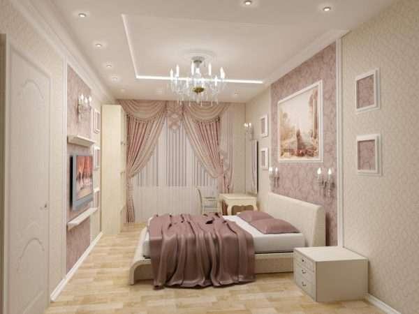 Многоуровневые потолки в спальне
