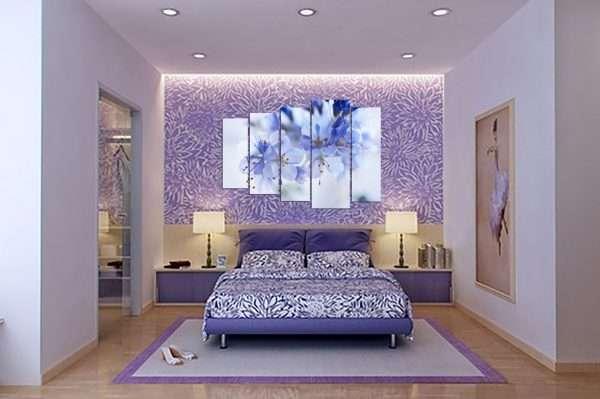 Использование обоев-компаньонов в оформлении спальни