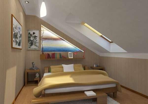 Маленькая мансарда - маленькая кровать